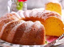 Torta budino all'arancia