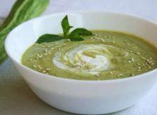 Crema fredda di zucchine e rucola